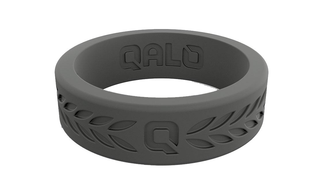 Women's Qalo Laurel Ring - Color: Charcoal Size: 4, Charcoal, large, image 2