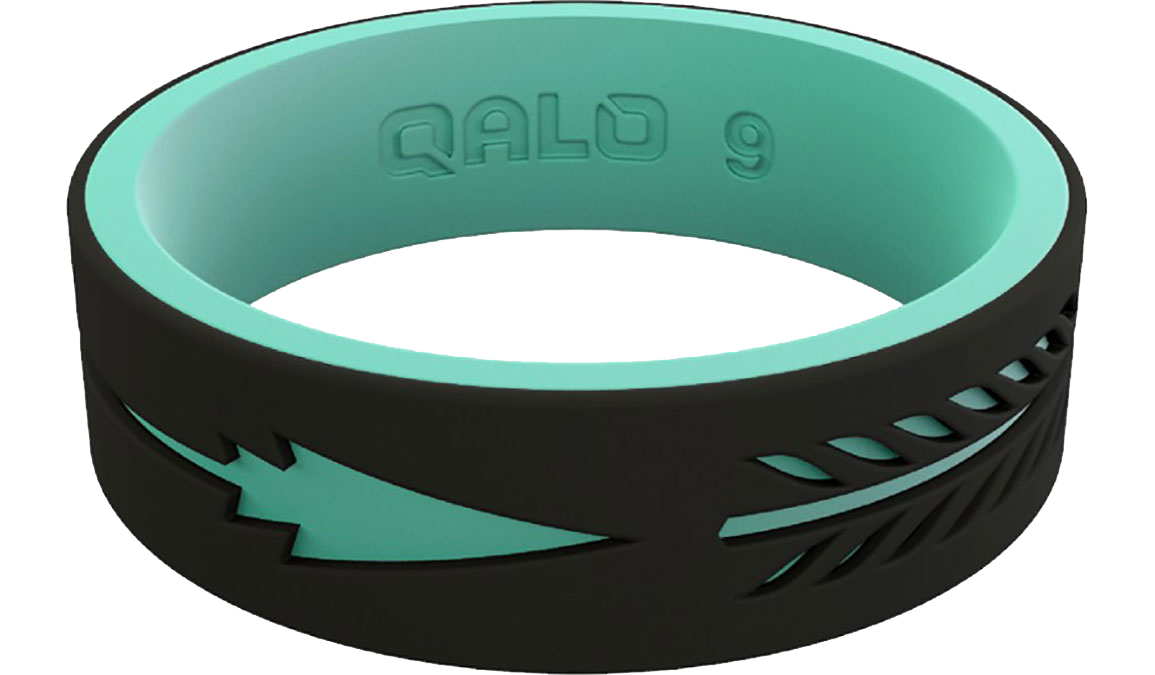 Women's Qalo Strata Arrow Silicone Ring - Color: Black Size: 4, Black, large, image 2