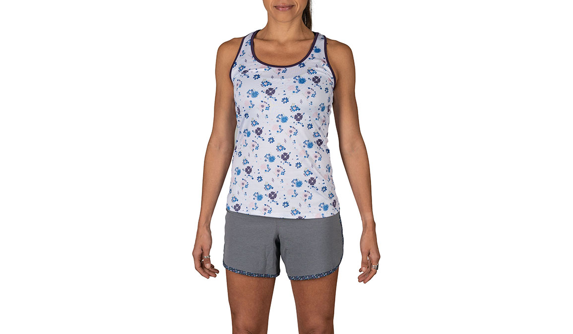 Women's Rabbit Bunny Hop Sleeveless Tank - Color: White Floral Size: XS, White, large, image 1