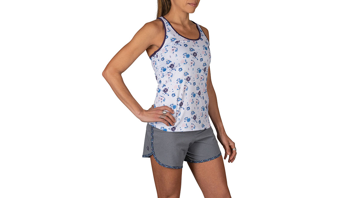 Women's Rabbit Bunny Hop Sleeveless Tank - Color: White Floral Size: XS, White, large, image 2