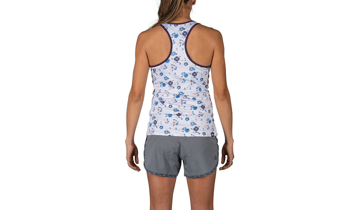 Women's Rabbit Bunny Hop Sleeveless Tank - Color: White Floral Size: XS, White, large, image 3