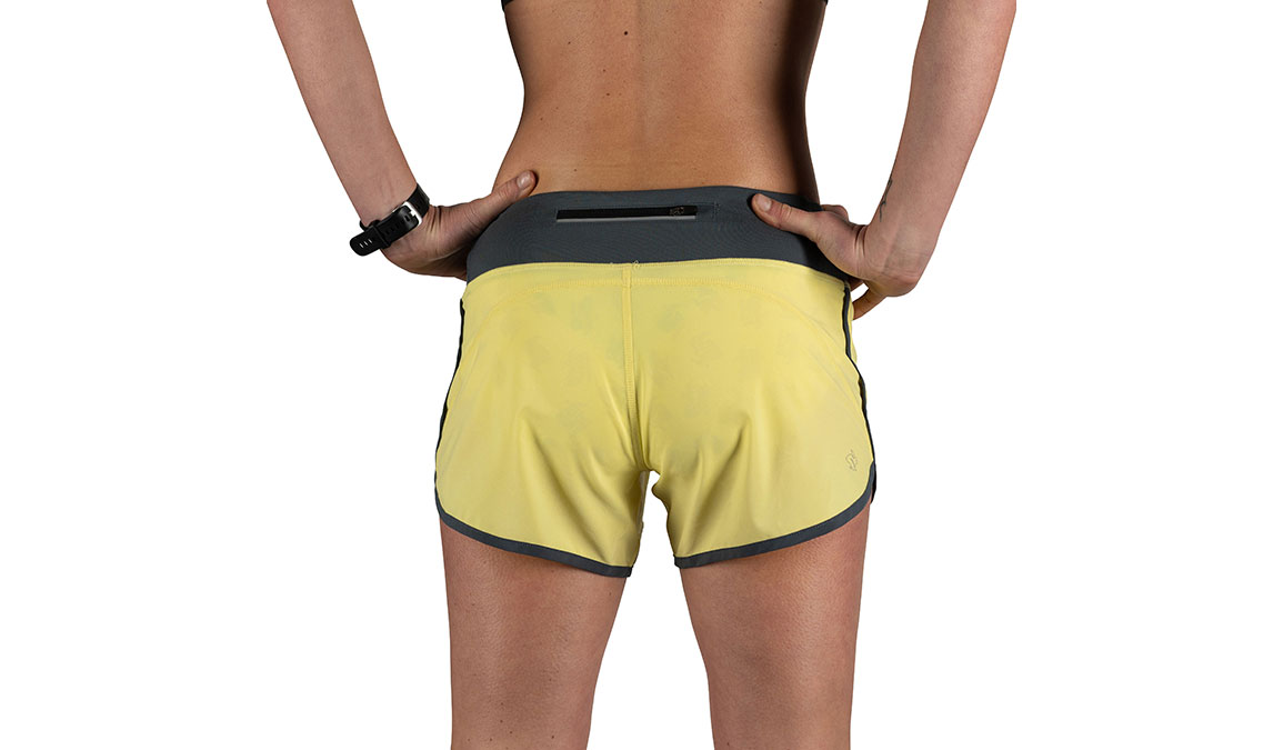 "Women's Rabbit Hopper 4"" Short - Color: Limelight Size: XS, Yellow, large, image 3"