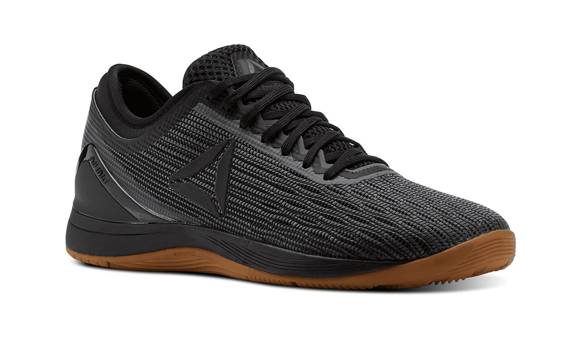 Women's Reebok Crossfit Nano 8 Flexweave Training Shoes - Color: Black/Alloy (Regular Width) - Size: 9.5, Black/Grey, large, image 2
