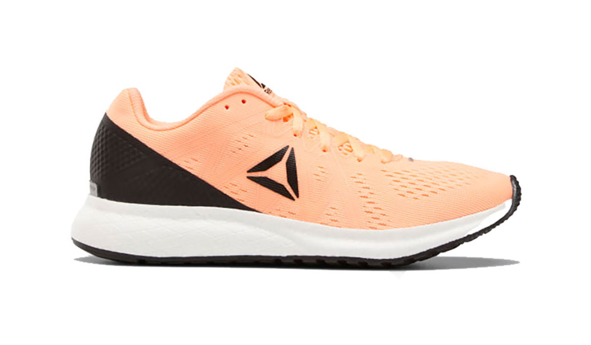 Women's Reebok Forever Floatride Energy Running Shoe - Color: Sunglow / Black (Regular Width) - Size: 7.5, Orange/Black, large, image 1