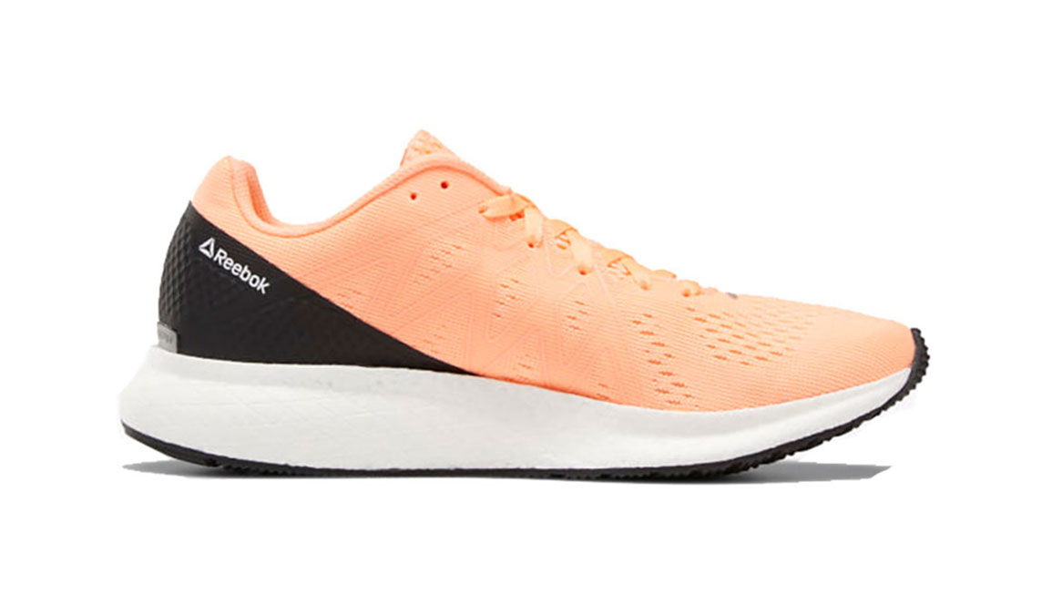 Women's Reebok Forever Floatride Energy Running Shoe - Color: Sunglow / Black (Regular Width) - Size: 7.5, Orange/Black, large, image 2