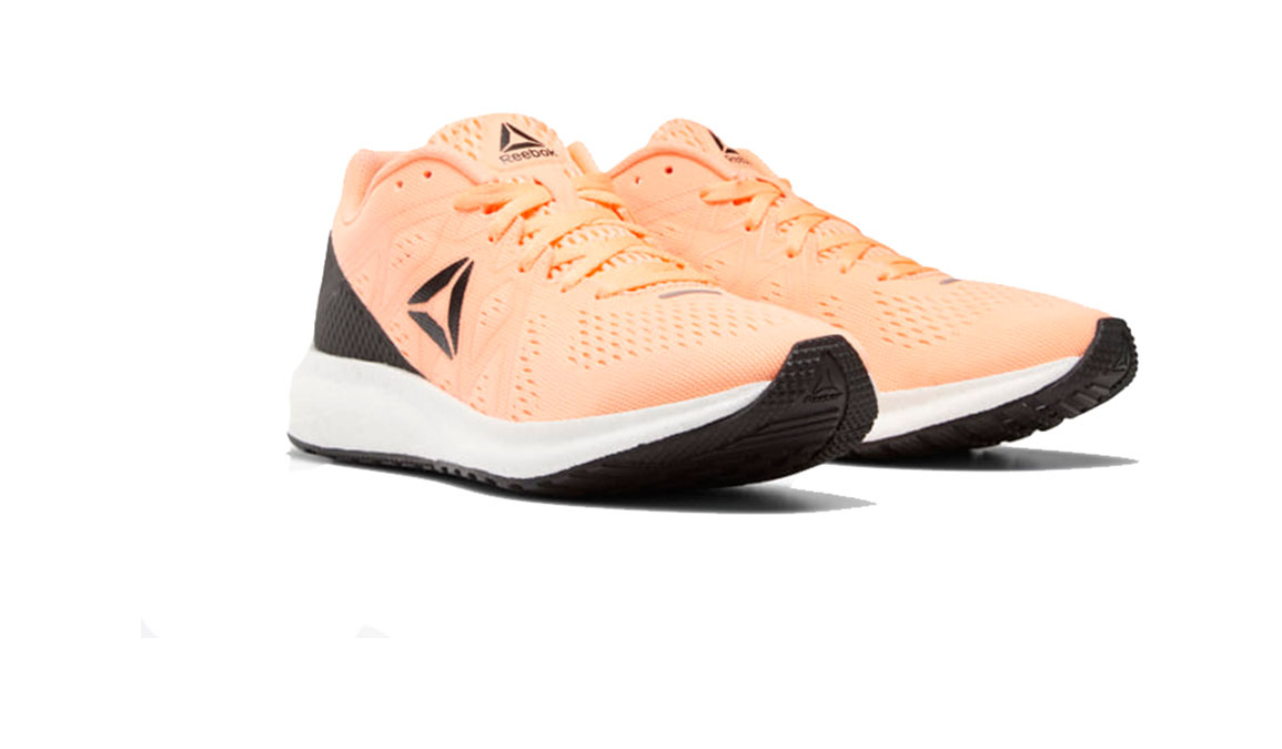 Women's Reebok Forever Floatride Energy Running Shoe - Color: Sunglow / Black (Regular Width) - Size: 7.5, Orange/Black, large, image 3