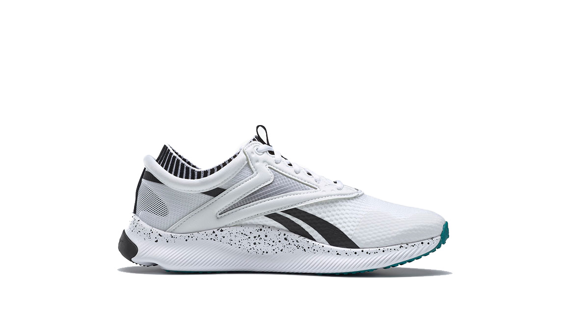 Women's Reebok HIIT TR Training Shoes - Color: White/Black/Sea (Regular Width) - Size: 5, White/Black, large, image 2