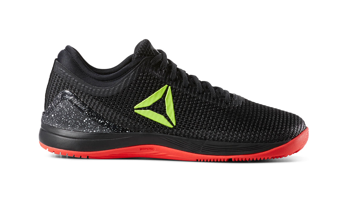 Women's Reebok Nano 8 Flexweave Training Shoes - Color: Black/Neon Red (Regular Width) - Size: 6, Black/Red, large, image 1