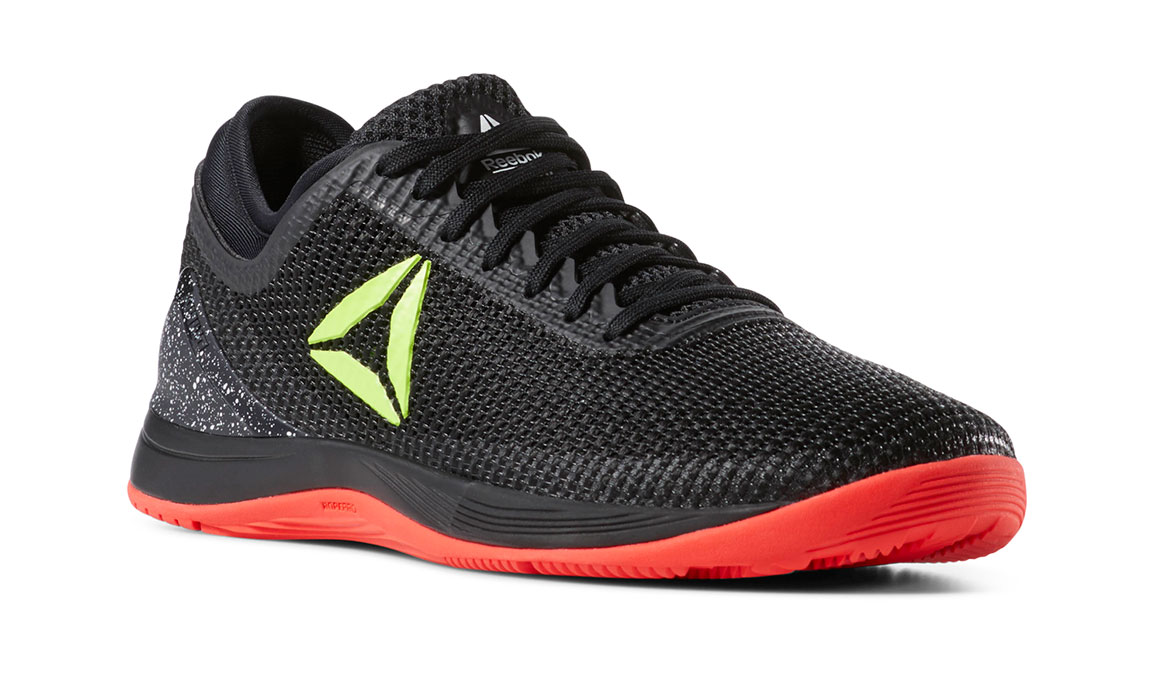 Women's Reebok Nano 8 Flexweave Training Shoes - Color: Black/Neon Red (Regular Width) - Size: 6, Black/Red, large, image 3