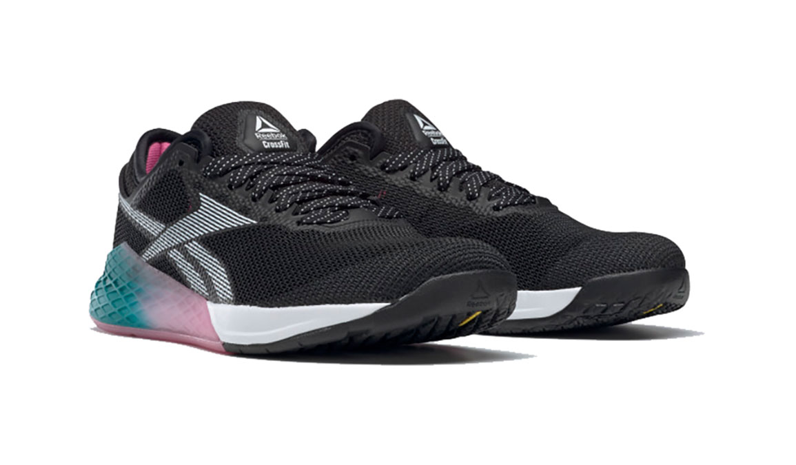 Women's Reebok Nano 9 Training Shoes - Color: Black/Cold Grey (Regular Width) - Size: 6, Black/Grey, large, image 3