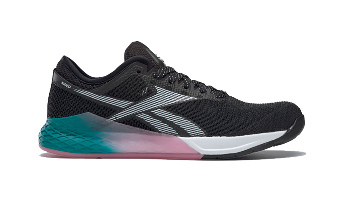 Women's Reebok Nano 9 Training Shoes - Color: Black/Cold Grey (Regular Width) - Size: 6, Black/Grey, large, image 1