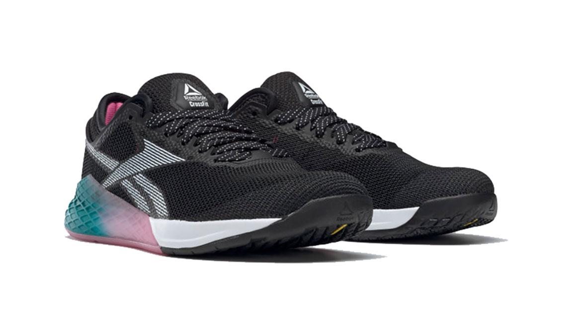 Women's Reebok Nano 9 Training Shoes - Color: Black/Cold Grey (Regular Width) - Size: 6, Black/Grey, large, image 3