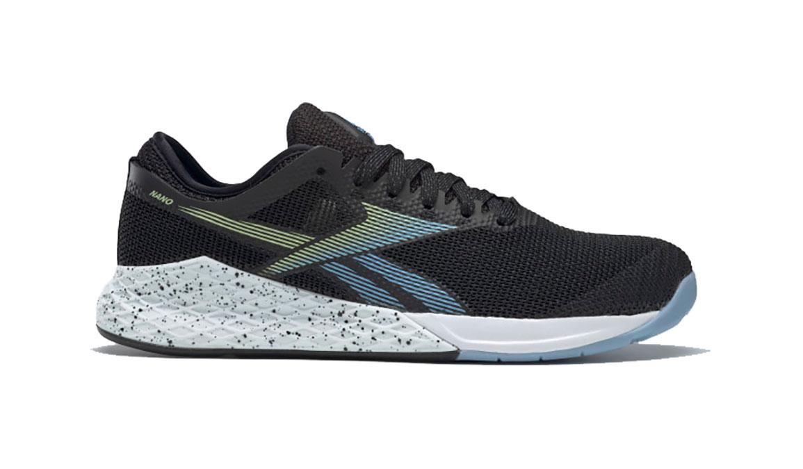 Men's Reebok Nano 9 Training Shoes - Color: Black/Fluid Blue/Lemon Glow (Regular Width) - Size: 6, Black/Blue, large, image 1