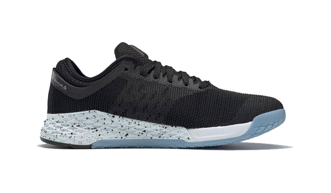 Men's Reebok Nano 9 Training Shoes - Color: Black/Fluid Blue/Lemon Glow (Regular Width) - Size: 6, Black/Blue, large, image 2