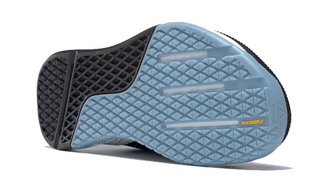 Men's Reebok Nano 9 Training Shoes - Color: Black/Fluid Blue/Lemon Glow (Regular Width) - Size: 6, Black/Blue, large, image 4