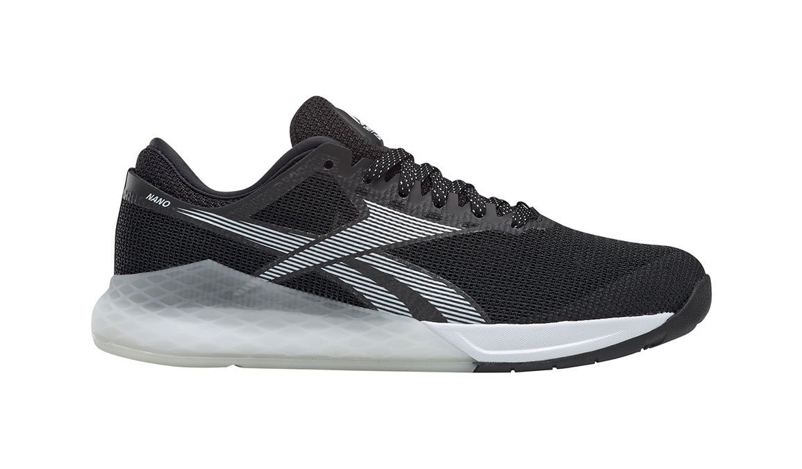 Women's Reebok Nano 9 Training Shoes - Color: Black/White (Regular Width) - Size: 5.5, Black/White, large, image 1