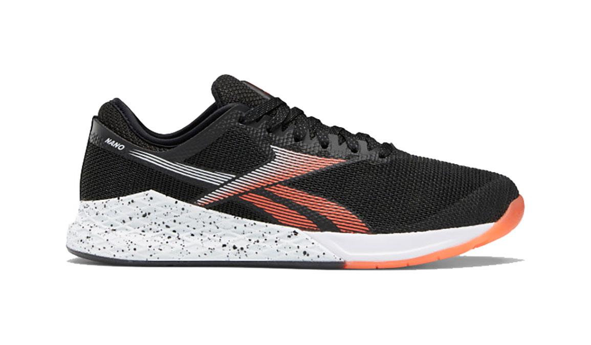 Men's Reebok Nano 9 Training Shoes - Color: Black/White/Vivid Orange (Regular Width) - Size: 8, Black/Orange, large, image 1