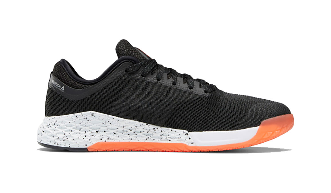Men's Reebok Nano 9 Training Shoes - Color: Black/White/Vivid Orange (Regular Width) - Size: 8, Black/Orange, large, image 2