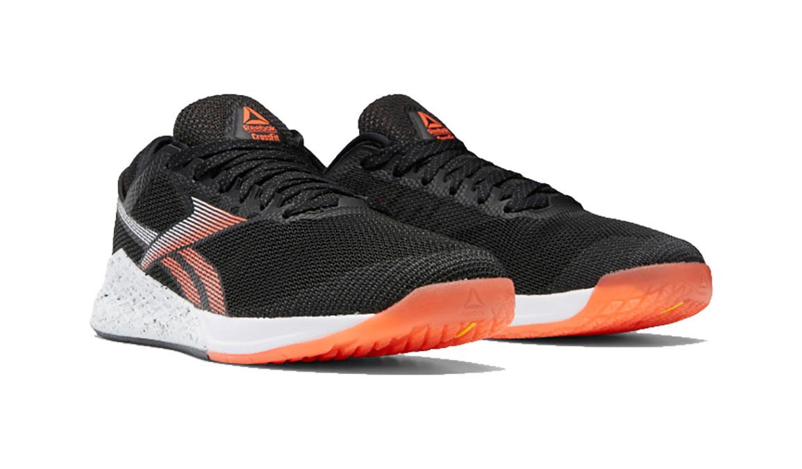 Men's Reebok Nano 9 Training Shoes - Color: Black/White/Vivid Orange (Regular Width) - Size: 8, Black/Orange, large, image 3