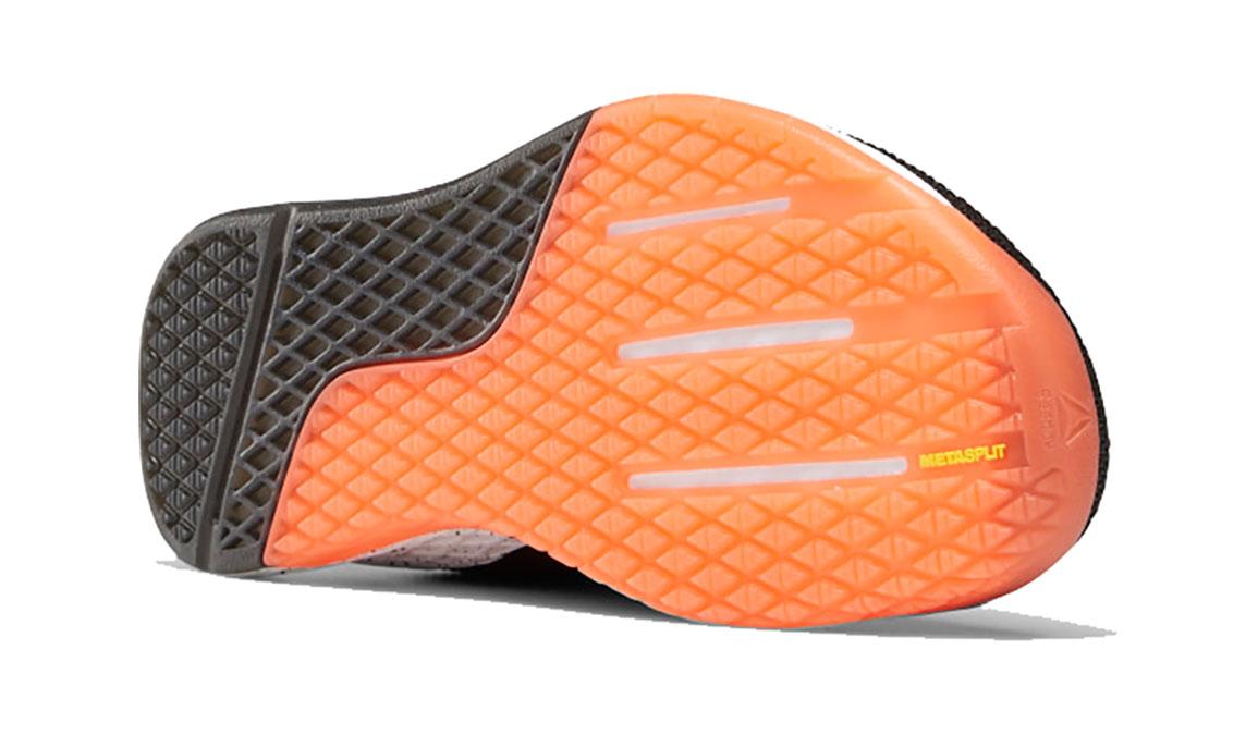 Men's Reebok Nano 9 Training Shoes - Color: Black/White/Vivid Orange (Regular Width) - Size: 8, Black/Orange, large, image 4