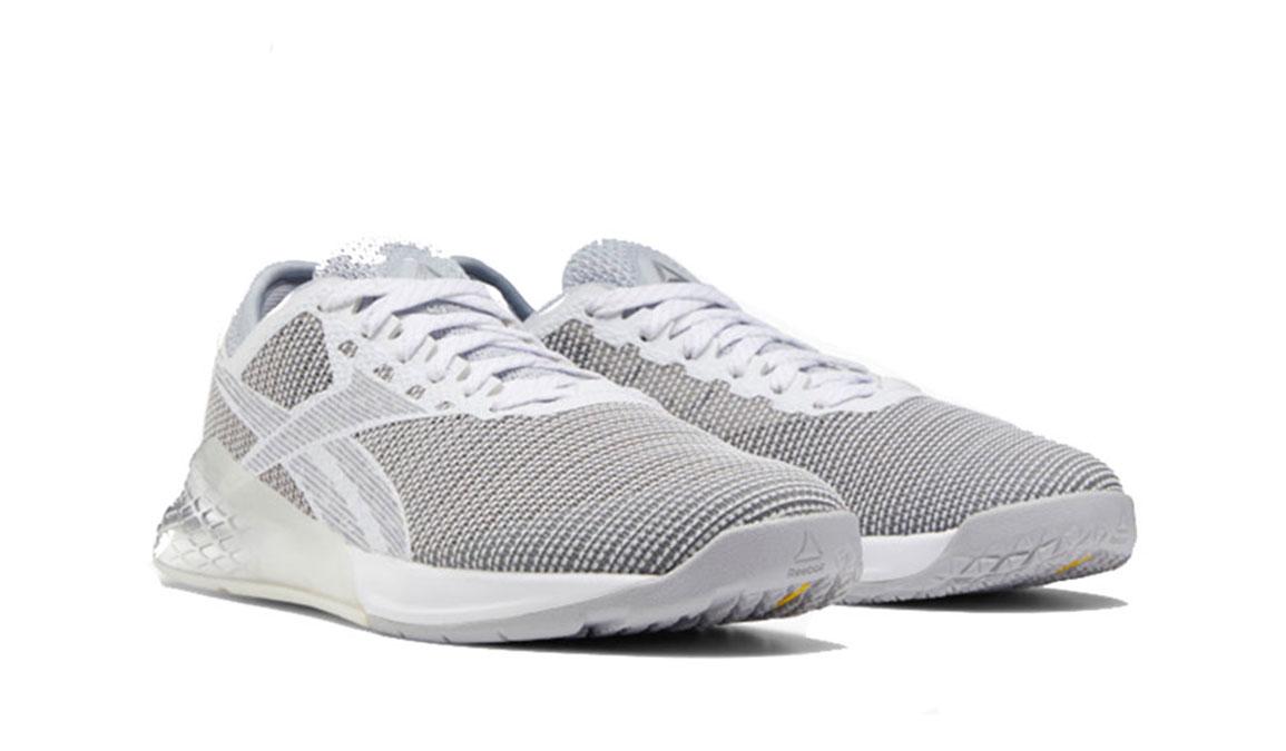 Men's Reebok Nano 9 Training Shoes - Color: Cold Grey 2/Silver Met./White (Regular Width) - Size: 6, Grey, large, image 3