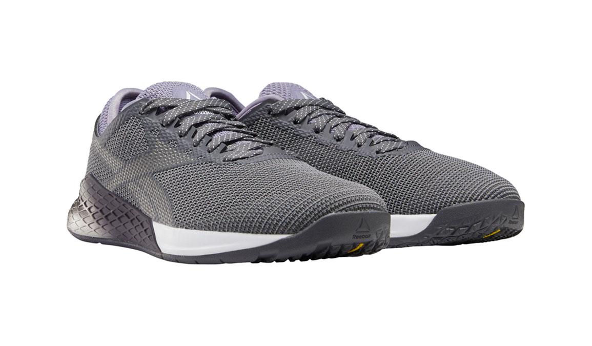 Men's Reebok Nano 9 Training Shoes - Color: Cold Grey/Violet Haze/White (Regular Width) - Size: 8.5, Grey/Purple, large, image 2