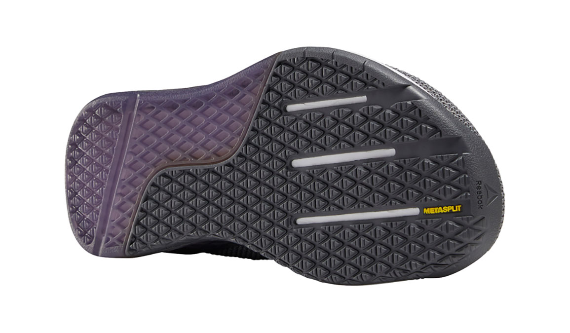 Men's Reebok Nano 9 Training Shoes - Color: Cold Grey/Violet Haze/White (Regular Width) - Size: 8.5, Grey/Purple, large, image 3
