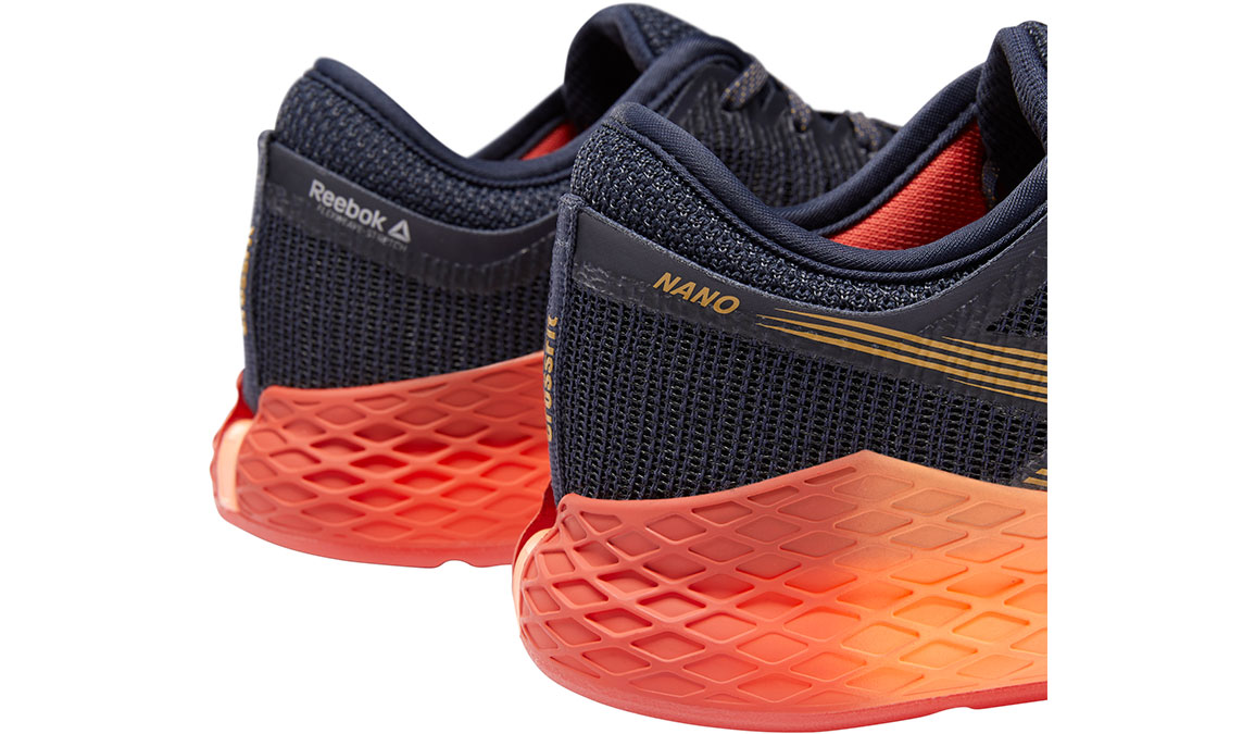 Women's Reebok Nano 9 Training Shoes - Color: Heritage Navy/Rosette (Regular Width) - Size: 10, Navy/Red, large, image 4