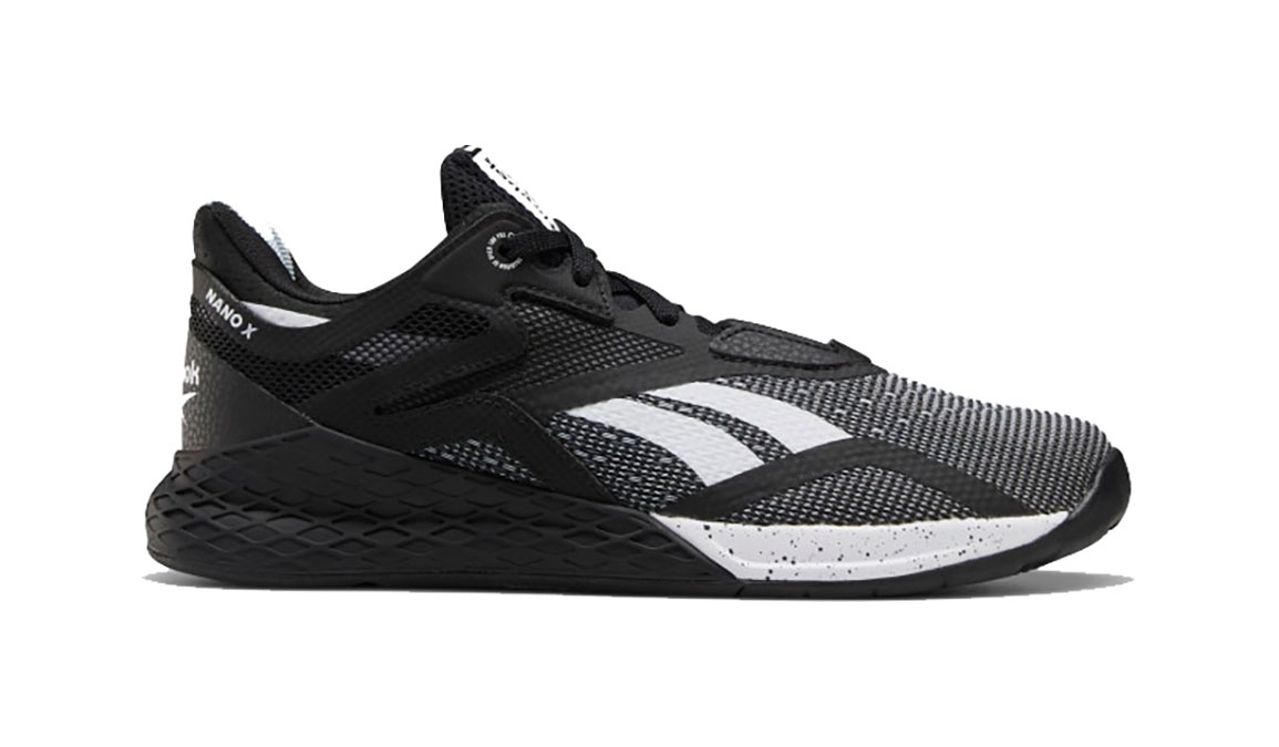Women's Reebok Nano X Training Shoes - Color: Black/White/Glass Blue  (Regular Width) - Size: 6, Black/White, large, image 1