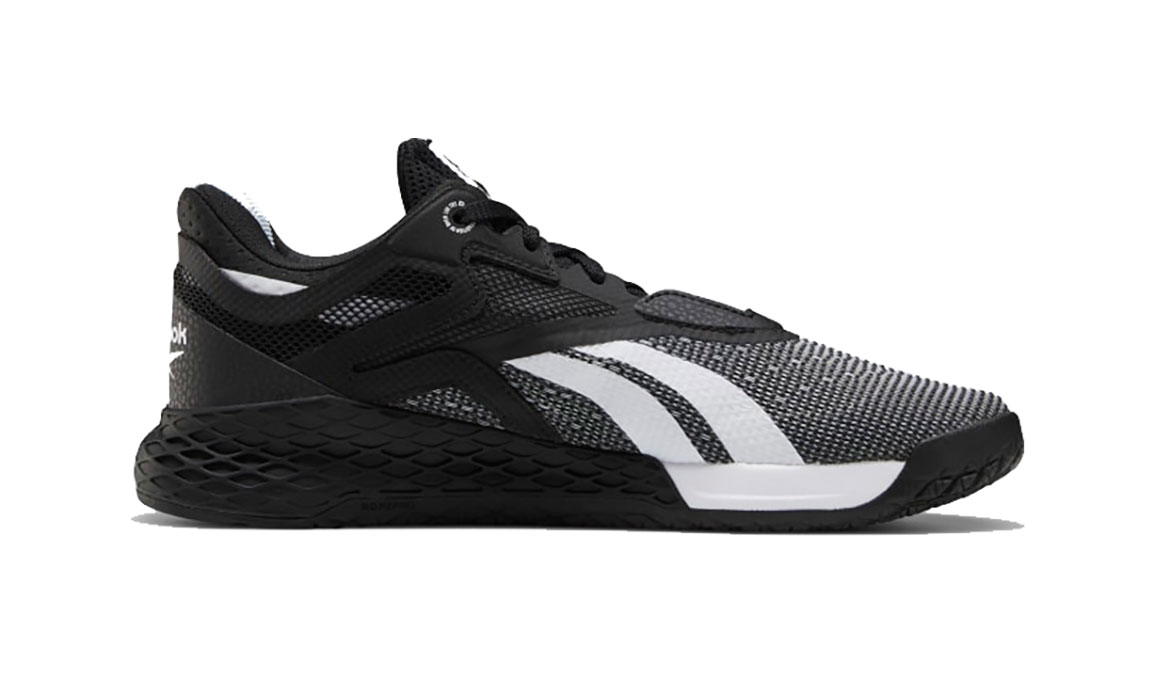 Women's Reebok Nano X Training Shoes - Color: Black/White/Glass Blue  (Regular Width) - Size: 6, Black/White, large, image 2