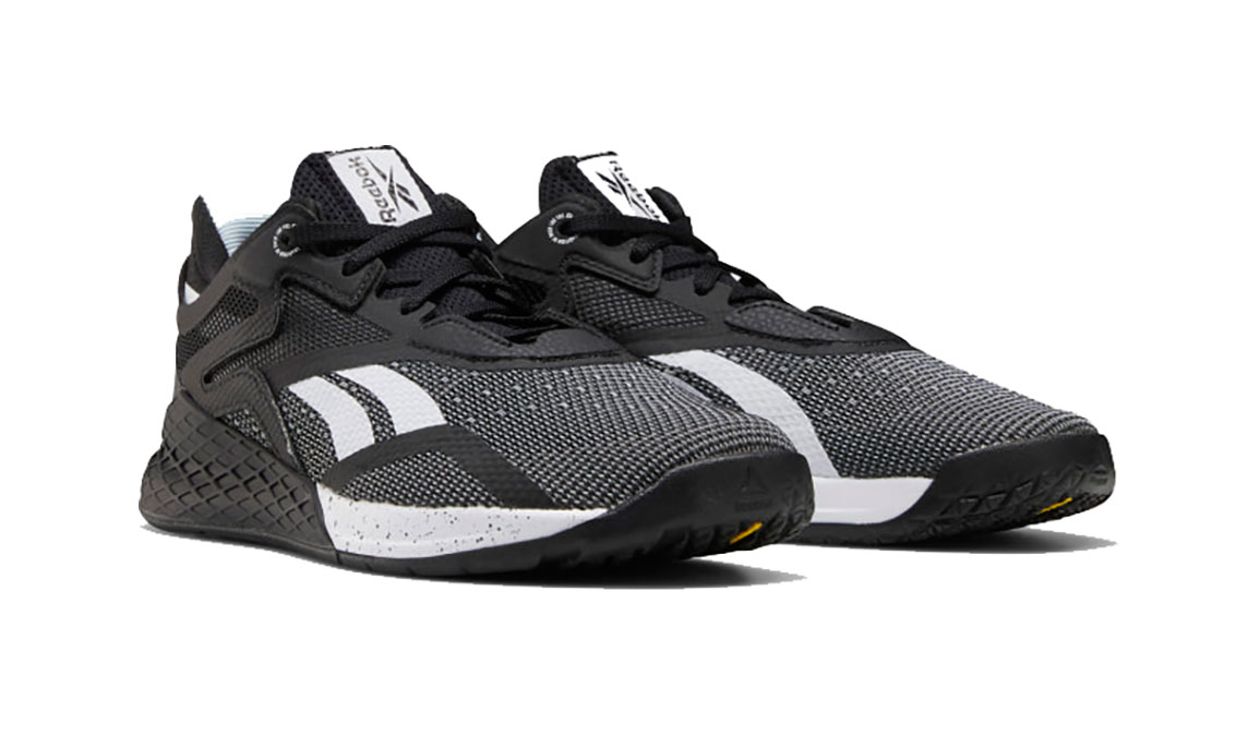 Women's Reebok Nano X Training Shoes - Color: Black/White/Glass Blue  (Regular Width) - Size: 6, Black/White, large, image 3