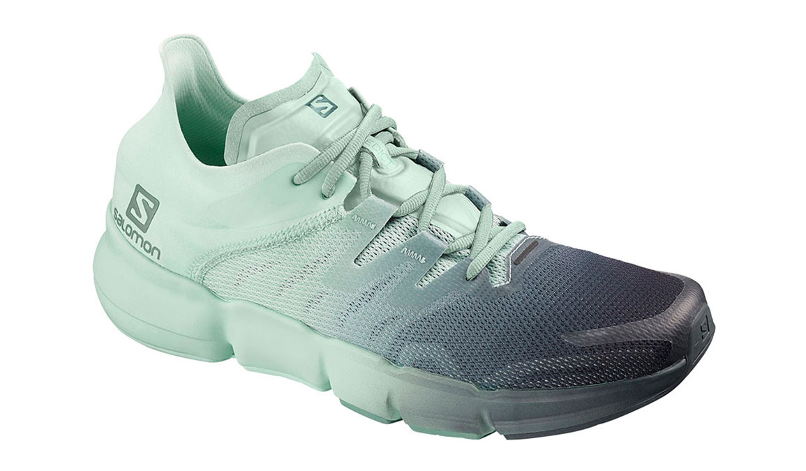 Women's Salomon Predict Ra Running Shoe - Color: Ebony/Icy Morn (Regular Width) - Size: 5, Black/Green, large, image 1
