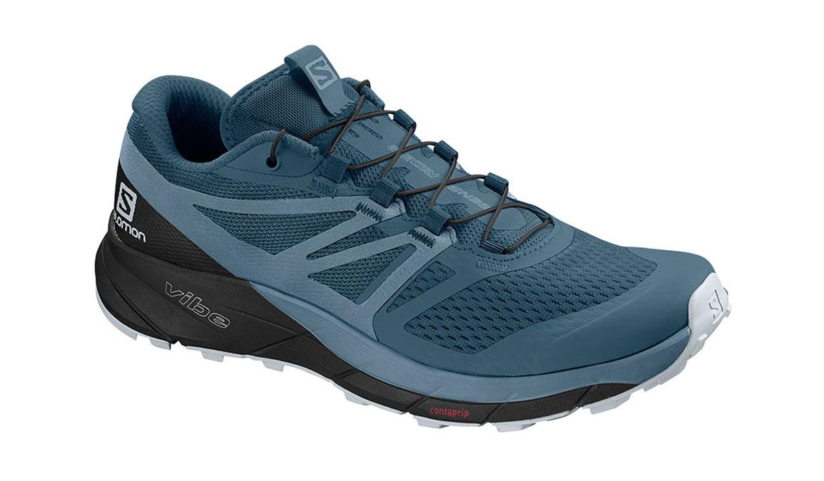 Women's Salomon Sense Ride 2 Trail Running Shoe - Color: Mallard Blue/Blue Stone (Regular Width) - Size: 5, Blue/Blue, large, image 1