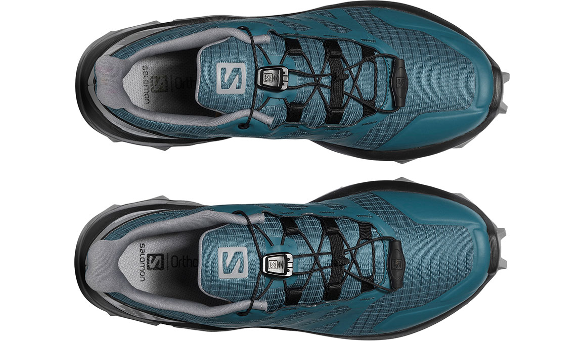 Women's Salomon Supercross Trail Running Shoe - Color: Mallard Blue/Black (Regular Width) - Size: 6, Blue/Black, large, image 4