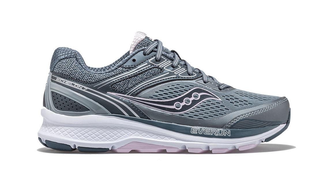 Women's Saucony Echelon 7 Running Shoe - Color: Slate/Pink (Regular Width) - Size: 10, Slate, large, image 1