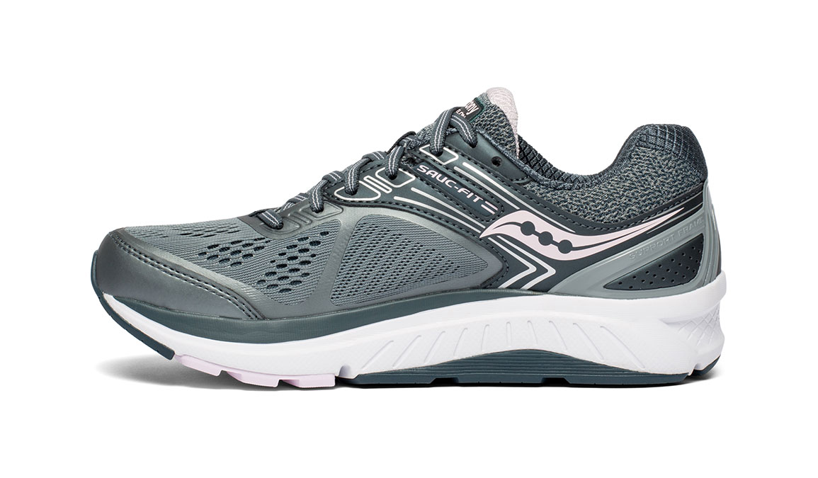 Women's Saucony Echelon 7 Running Shoe - Color: Slate/Pink (Regular Width) - Size: 10, Slate, large, image 2