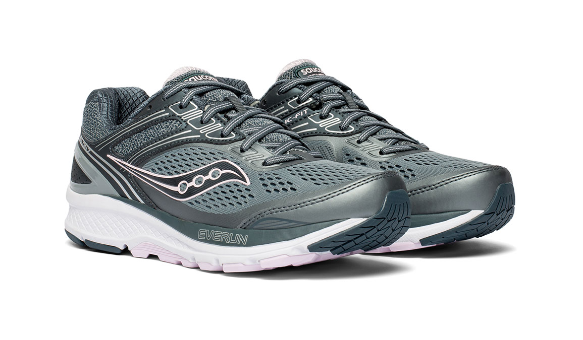 Women's Saucony Echelon 7 Running Shoe - Color: Slate/Pink (Regular Width) - Size: 10, Slate, large, image 5