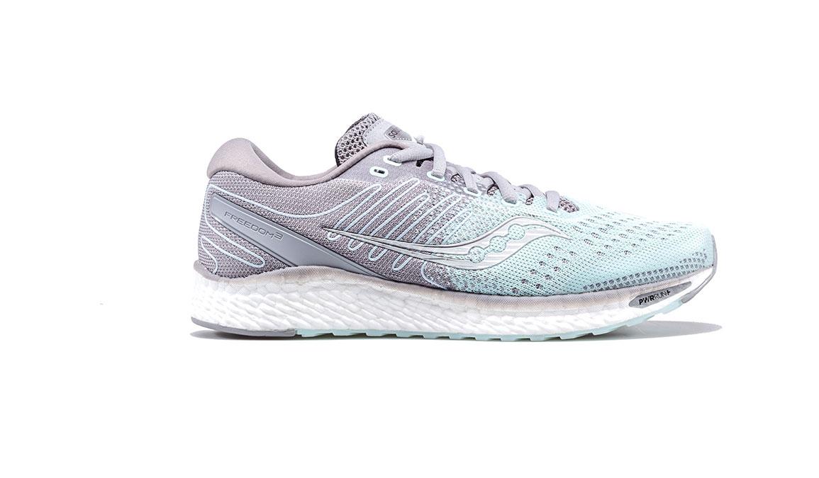 Women's Saucony Freedom 3 Running Shoe - Color: Sky/Alloy (Regular Width) - Size: 6.5, Sky Blue, large, image 1
