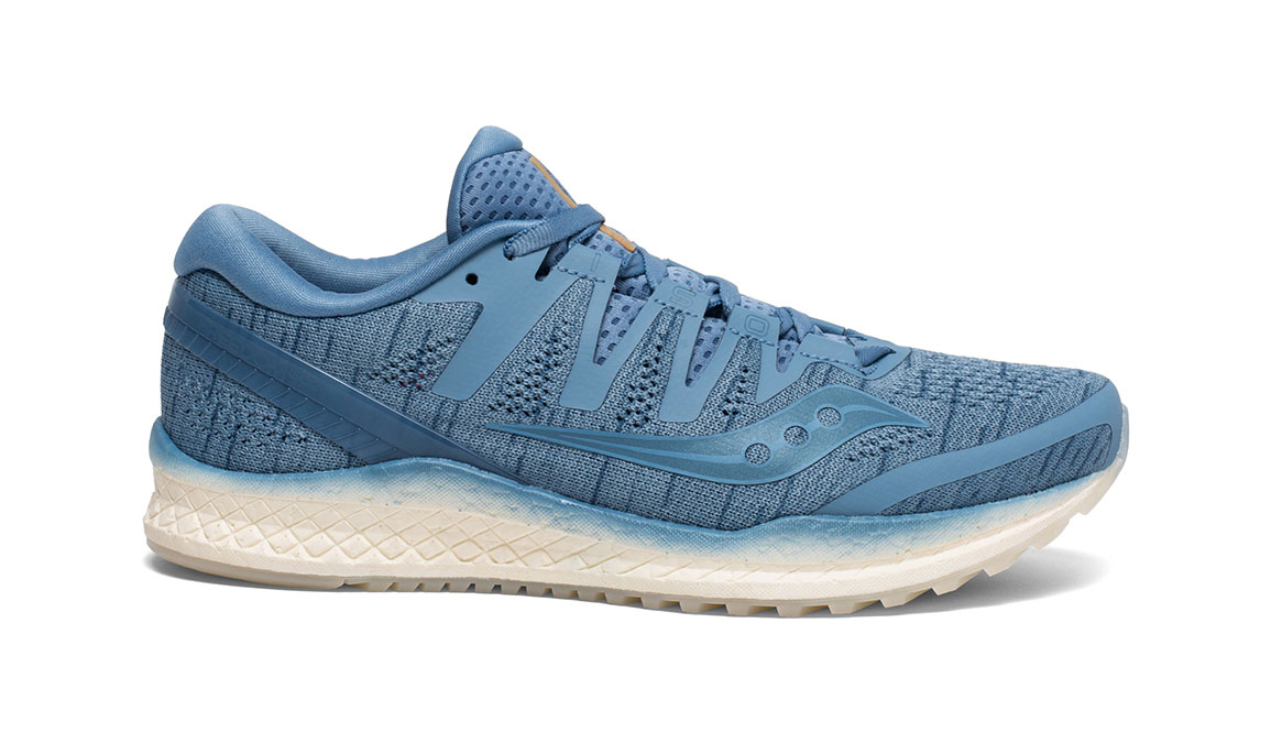 Women's Saucony Freedom ISO 2 Running Shoe - Color: Blue Shade (Regular Width) - Size: 11, Blue, large, image 1