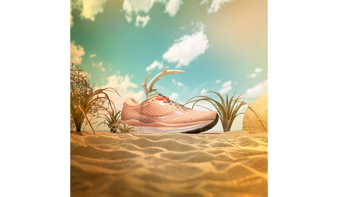 Women's Saucony Guide 13 Running Shoe - Color: Jackalope (Regular Width) - Size: 6, Pink, large, image 5