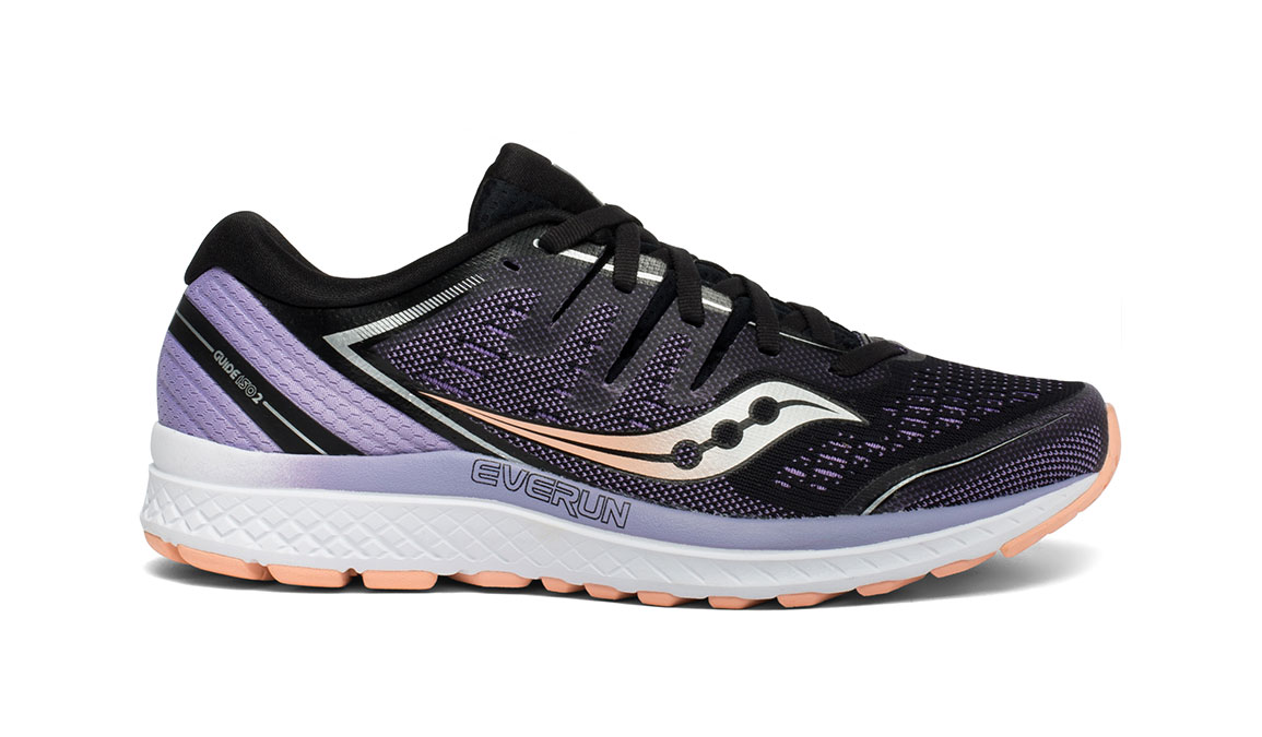 Women's Saucony Guide ISO 2 Running Shoe - Color: Black/Purple (Regular Width) - Size: 10.5, Black/Purple, large, image 1