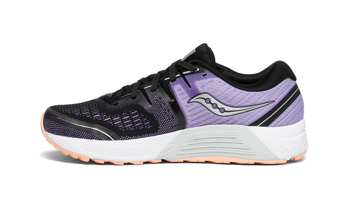 Women's Saucony Guide ISO 2 Running Shoe - Color: Black/Purple (Regular Width) - Size: 10.5, Black/Purple, large, image 2