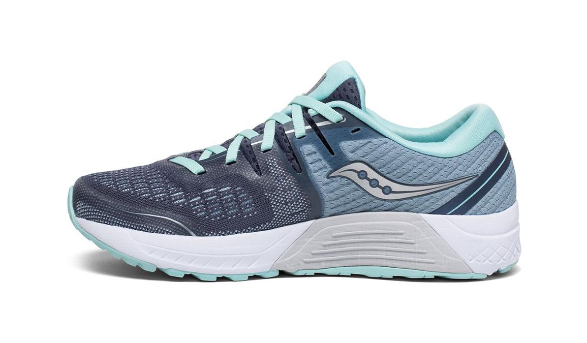 Women's Saucony Guide ISO 2 Running Shoe - Color: Slate/Aqua (Wide Width) - Size: 9.5, Slate, large, image 2