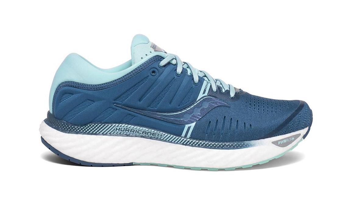 Women's Saucony Hurricane 22 Running Shoe - Color: Blue/Aqua (Regular Width) - Size: 5, Blue/Blue, large, image 1
