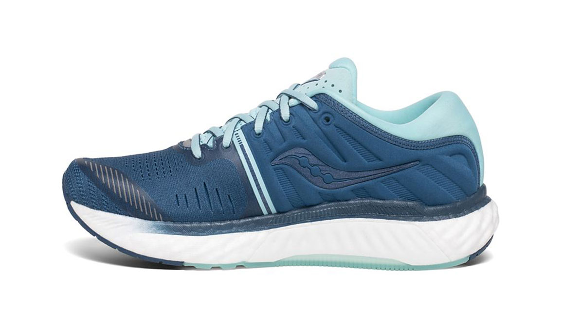 Women's Saucony Hurricane 22 Running Shoe - Color: Blue/Aqua (Regular Width) - Size: 5, Blue/Blue, large, image 2