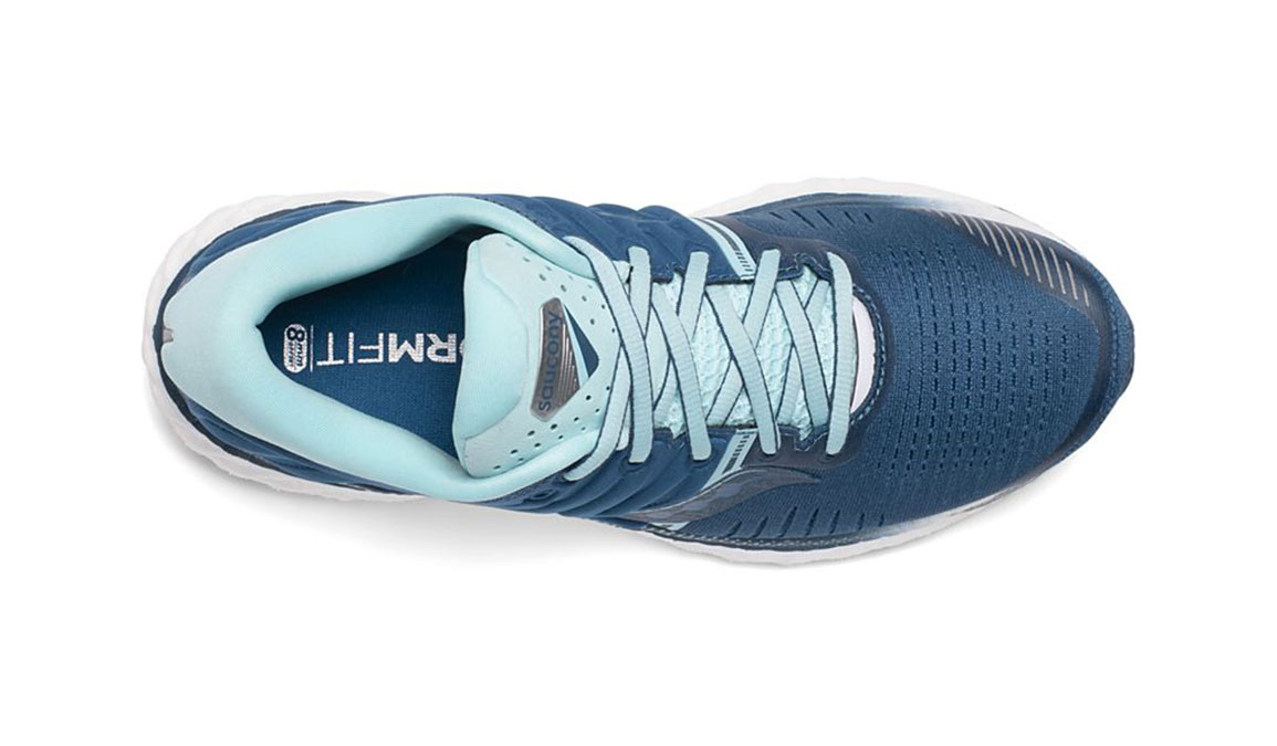 Women's Saucony Hurricane 22 Running Shoe - Color: Blue/Aqua (Regular Width) - Size: 5, Blue/Blue, large, image 3