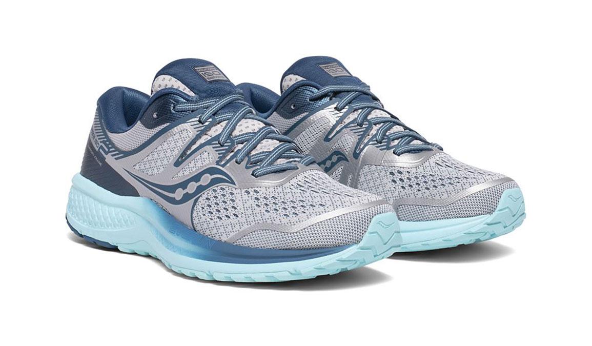 Women's Saucony Omni Iso 2 Running Shoe - Color: Grey/Aqua (Regular Width) - Size: 5, Grey/Blue, large, image 3