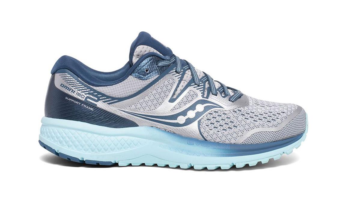 Women's Saucony Omni Iso 2 Running Shoe - Color: Grey/Aqua (Regular Width) - Size: 5, Grey/Blue, large, image 1