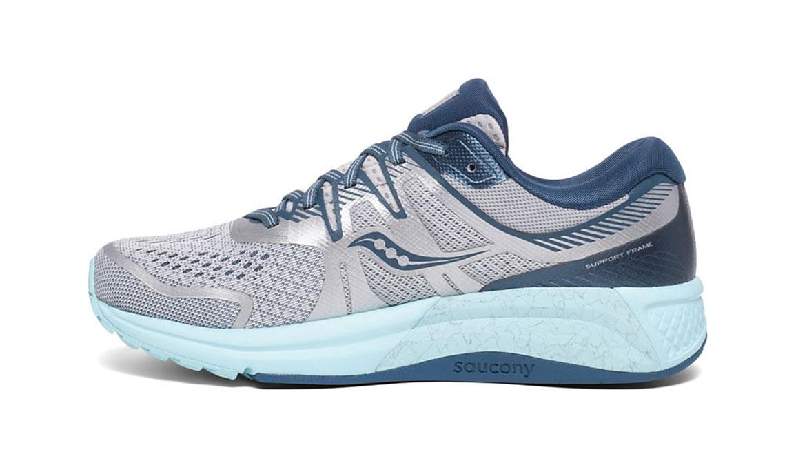 Women's Saucony Omni Iso 2 Running Shoe - Color: Grey/Aqua (Regular Width) - Size: 5, Grey/Blue, large, image 2
