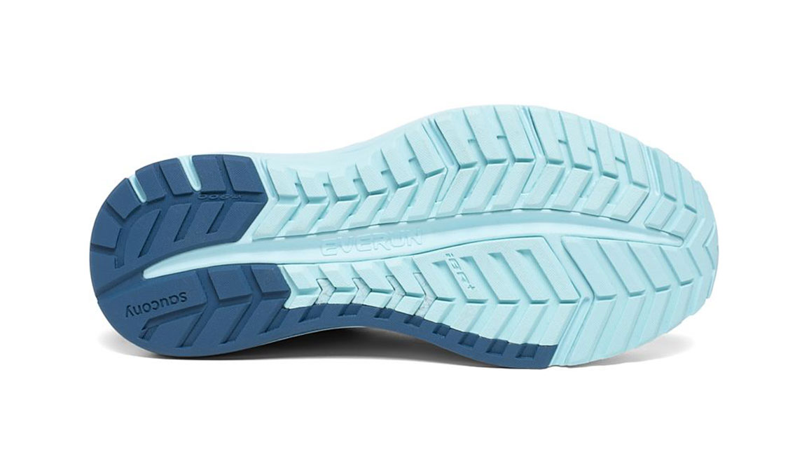 Women's Saucony Omni Iso 2 Running Shoe - Color: Grey/Aqua (Regular Width) - Size: 5, Grey/Blue, large, image 4